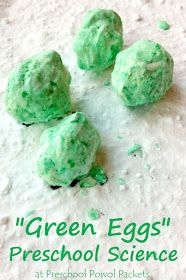 Fizzing Green Eggs Science Experiment for Preschool Fizzing Green Eggs Science for Preschool! This super fun inspired-by-Dr. Seuss science activity is perfect for preschool and kindergarten. We did it with the book Green Eggs and Ham, and it was loads of Preschool Themes, Preschool Science, Preschool Lessons, Science For Kids, Preschool Crafts, Preschool Eggs, Science Fun, Science Activities, Science Crafts