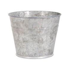 Pot de fleurs rond en zinc OZ