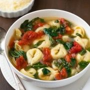 Fresh Spinach and Tomato Tortellini Soup   Cooking Classy