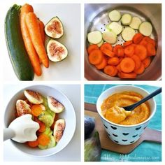 Baby food - Squash, carrot & fig purée suitable from 6 months old