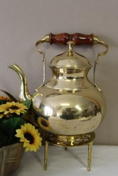 An exquisite vintage solid brass kettle with a wooden handle and ornate stand. in the Brass category was listed for on 25 Dec at by Lifespace Homeware in Gauteng Tea Pots, Wooden, Tableware, Wooden Handles, Solid Brass, Kettle, Ornate, Kitchen Appliances, Vintage