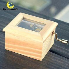 Good Quality Music Box Wood Made Hand Cranked Music Box caixa de musica ,Kids Toys Musical Box