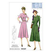 Buy Vogue Women's Dress Sewing Pattern, 9127 Online at johnlewis.com