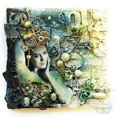 Pure - mixed-media collage by finnabair, via Flickr