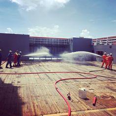 Fighting the invisible fire  #brann #training #firefighting #drill #firedrill #brannøvelse #øvelse #offshore #offshorelife #øvelsegjørmester by bernie_80