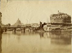 1858/59 autore non identificato . Tevere a ponte S. Angelo