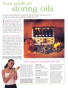 Guide to storing oils