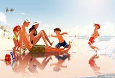 pascal-campion-dessins-illustrations-famille-parent-enfant-2-1.jpg (700×478)