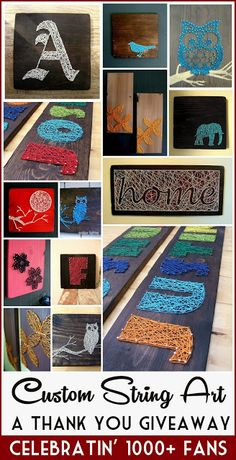 Any Custom String Art Giveaway - BIG Thank you to my readers :D