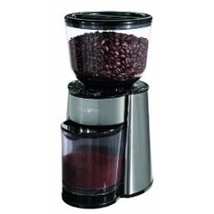 Mr.Coffee: burr style, coffee grinder. holds large amounts of coffee beans.  This is required for the perfect cup of french pressed java.  Please buy me one.