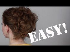 Curly updo this is the updo that I wear all the time and it looks so pretty