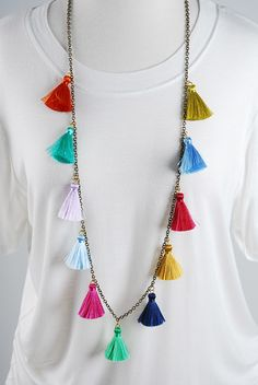 The Stevie Necklace - Jewel Multi from Cheeky Peach Boutique