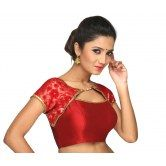 subadhra-jacket-type-ready-made-red-blouse-apsara-collection-from-muhenera-ct-32np