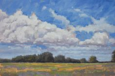 David Oakley Clouds over Trees Oil on Canvas 24 x 36