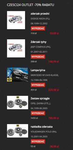 Prawie codziennie setki produktów dostępne są w wyprzedaży! Sprawdzajcie Czesci24.pl i bądźcie na bieżąco z promocjami!
