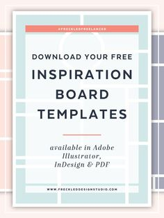 An In-depth Look at My Branding Process - Part 2: Inspiration Boards. And free inspiration board templates. Click through to download now.