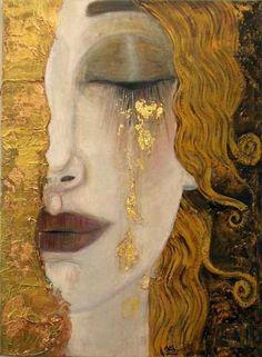 minhas lágrimas são tão raras e valiosas...elas são quilates de ouro. e você, é muito pobre para ter alguma delas. Mari.