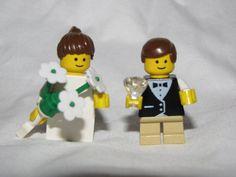 Lego ring bearer + flower girl minifigs. Cute wedding gift for little ones!