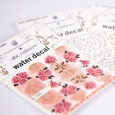 abc nailstore water decals #gold #rose #nails #nailart #nagelkunst #nageldesign #Nägel #rosa #