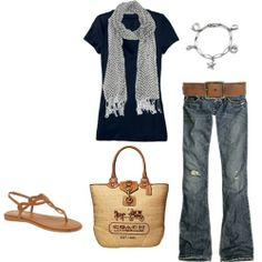 love the bag and sandles with the relaxed jeans