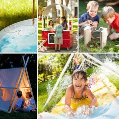 DIY Summer Projects for Kids   Look at all the fun your kids can have this summer -- without leaving home! Make this summer their best yet with projects such as a lemonade stand, a tent, and more.
