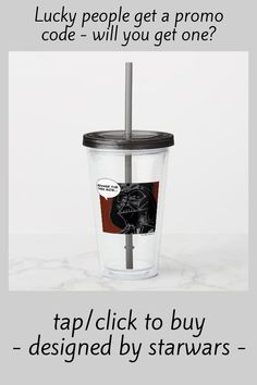 "Darth Vader Comic ""Beware The Dark Side"" Acrylic Tumbler #darth #vader #illustration #comic #strip #AcrylicTumbler"