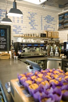 write on kitchen cafe subway tile industrial backsplash :)