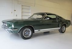 1967 Mustang GT Fastback. In Highland Green. Best driven in SF.