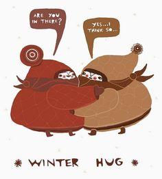 winter hug