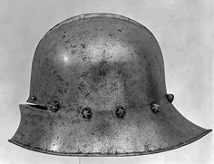 Sallet Armorer: Attributed to Adrian Treytz the Elder (Austrian, Innsbruck, active ca. 1473–92) Date: ca. 1480 Geography: Innsbruck Culture: Austrian, Innsbruck Medium: Steel Dimensions: H. 9 3/4 in. (24.8 cm); W. 11 1/2 in. (29.2 cm); D. 14 5/8 in. (37.1 cm); Wt. 6 lb. 2 oz. (2778 g)
