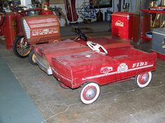 antique pedal cars by visit richmond indiana via flickr