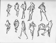Architecture People Silhouettes Sketch People Architecture Sketches   Architecture Drawing People