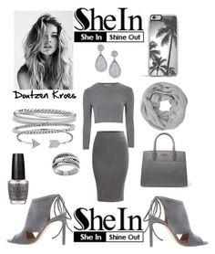 """SheIn: Win! Grey Split Dual Pocket Pencil Skirt"" by mandimwpink ❤ liked on Polyvore featuring Glamorous, John Lewis, Prada, BOSS Hugo Boss, Zero Gravity, David Yurman, BERRICLE, Bling Jewelry, OPI and Lord & Taylor"