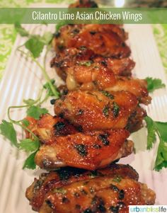 Insanely Awesome Cilantro Lime Asian Chicken Wings recipe |