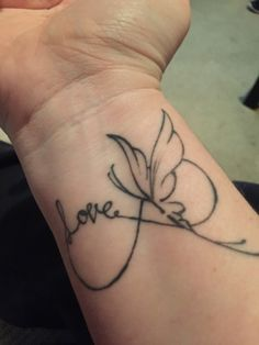 Infinity love butterfly tattoo ❤️ More