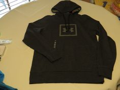 Under Armour ColdGear loose S 1288672 blk hthr pullover jacket hoody hoodie Mens #UnderArmour #hoodie