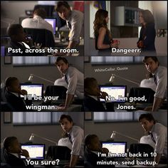 Sara and Alex meet each other. White Collar Quotes