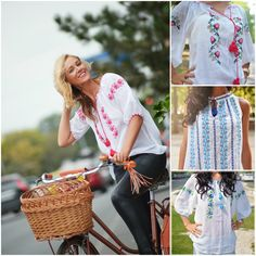 Happy to wear this blouse! Peasant Blouse, Label, Street Style, Happy, Handmade, How To Wear, Fashion, Moda, Hand Made