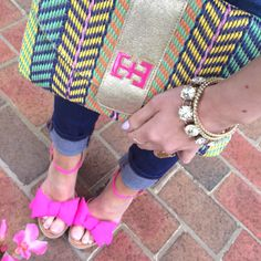 Kate Spade Pink Bow Wedges!!!