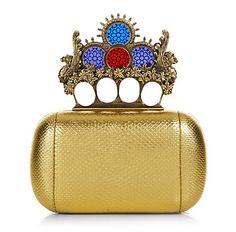 Alexander McQueen #gold #clutch #bag www.loveitsomuch.com