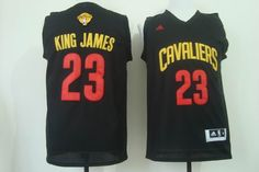 Cleveland Cavaliers #23 King James New Revolution 30 Swingman Black Jersey 2015 NBA Finals Patch