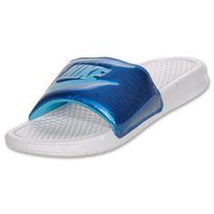Blue Nike Swoosh