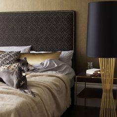 gold bedroom decor