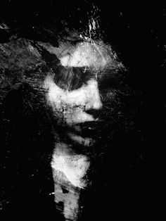 by Michal Mozolewski, via Behance Art Noir, L'art Du Portrait, Dark Art Drawings, Photo D Art, Art Plastique, Photo Manipulation, Figurative Art, Art Photography, Digital Art