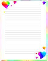 rainbow hearts stationary by Bubby-Bobble/ site has other free stationary