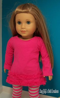 Tunic and Leggings fits American Girl Doll by GiGisDollCreations