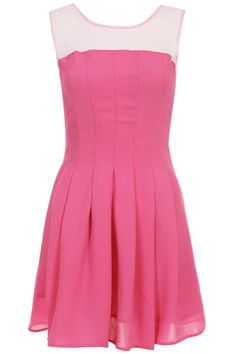 ROMWE   Dual-tone Rose Sleeveless Dress, The Latest Street Fashion  #ROMWE