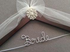Lovely Vintage Look Jeweled Bridal Hanger, Personalized Wedding Dress Hanger,  Bridal Shower, by DivineDays on Etsy https://www.etsy.com/listing/266863967/lovely-vintage-look-jeweled-bridal