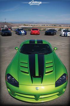 Viper green car