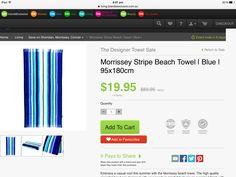 Morrissey striped beach towels x2